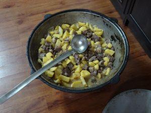 Gęsta zupa z barana.