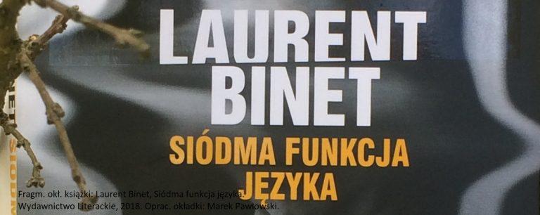 Laurent Binet, Siódma funkcja języka