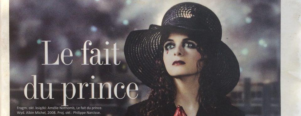 Amelie Nothomb Le fait du prince